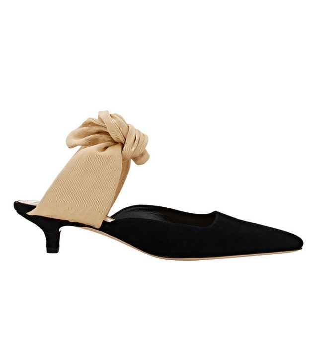 capsule wardrobe - The Row Coco Suede Mules
