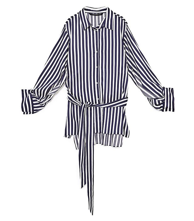 capsule wardrobe - Zara Striped Tunic