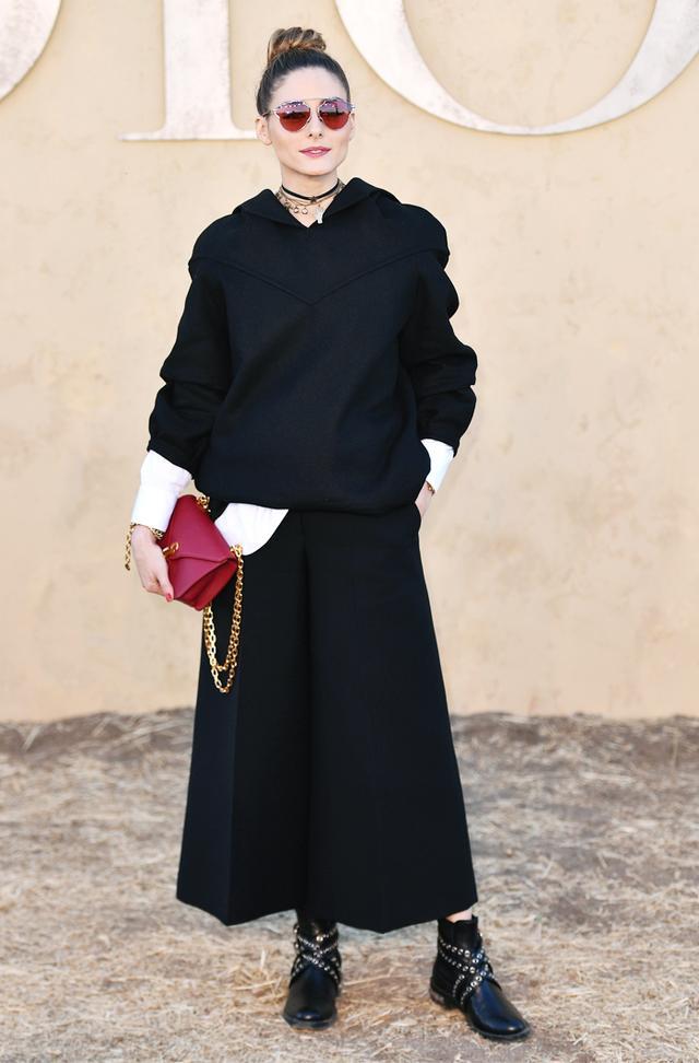 Olivia Palermo wearing a Dior hoodie