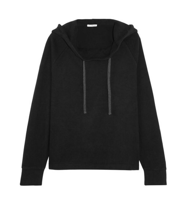 James Perse Oversized Brushed Cotton-Blend Hooded Top