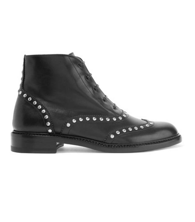 Saint Laurent Lolita Studded Leather Ankle Boots