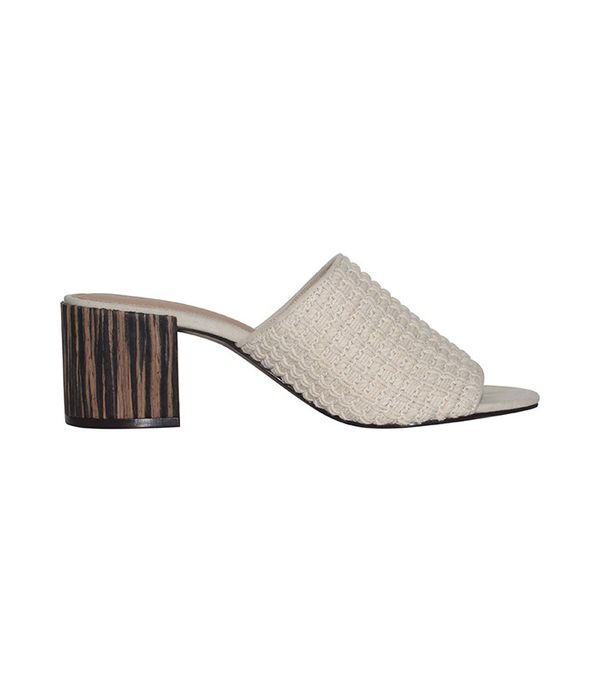 Who What Wear Felicity Macrame Strap Block Heel Slide