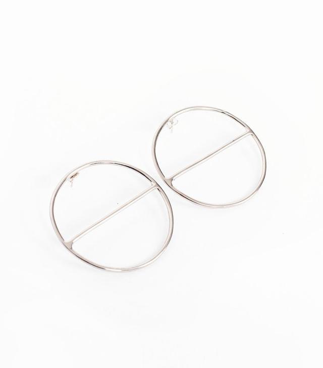 Anndra Neen Round Saturn Earrings