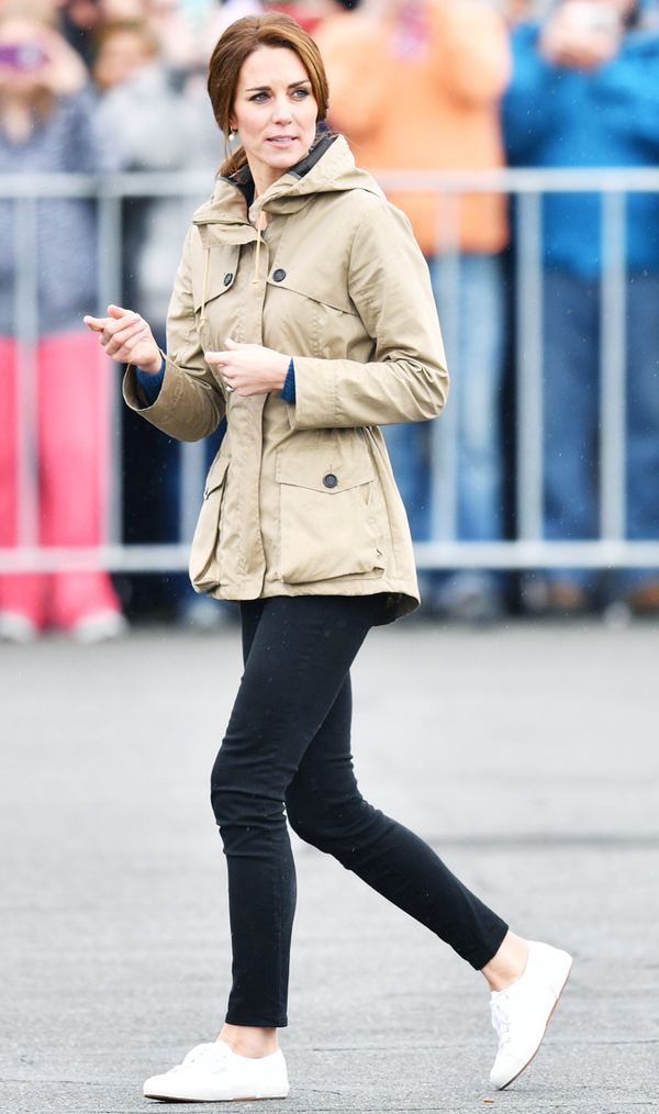 Celebrities wearing trainers: Duchess of Cambridge