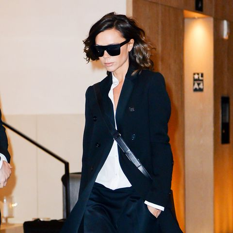 Celebrities wearing trainers: Victoria Beckham Adidas trainers
