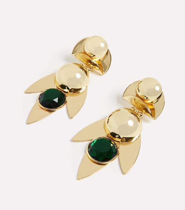 Best statement earrings: Uterque