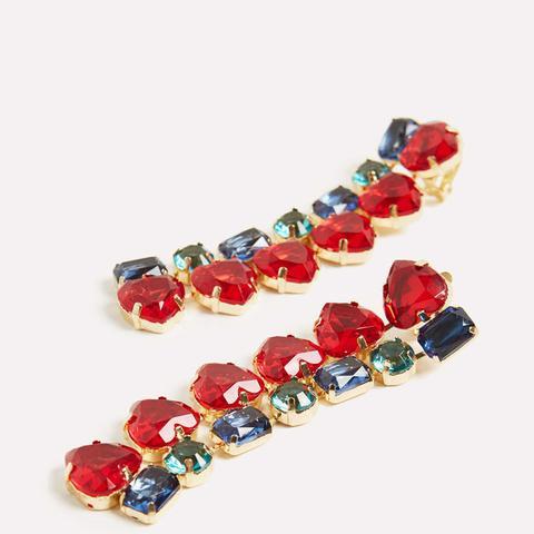 Long Crystal Earrings