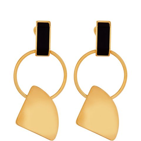 Gold Tone Clip-On Earrings