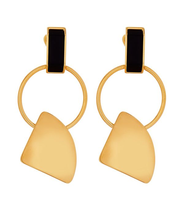 on earring the shaped leather us clip leaf earrings in d marni from n and woman metal