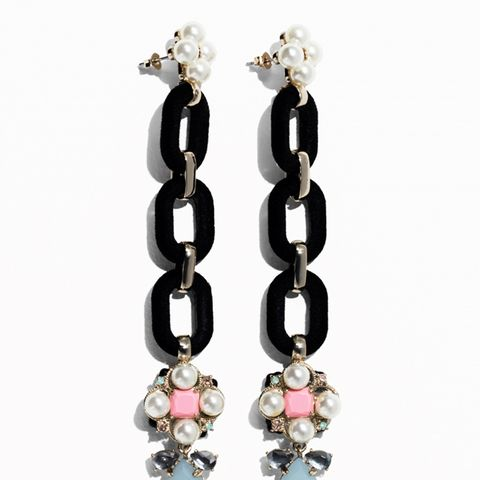 Pearlescent Chain Earrings