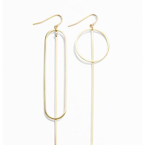 Geometric Pendant Earrings