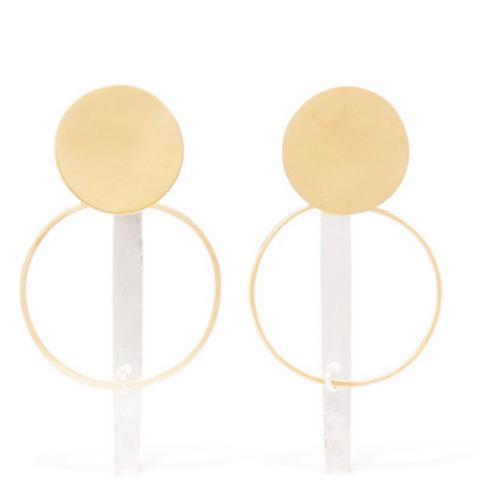 Krikol Gold and Silver-Tone Earrings