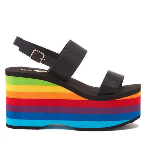 ESxRD Copa Rainbow Platform Sandals