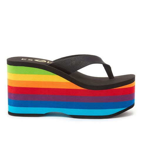 ESxRD Paradise Rainbow Platform Flip Flops