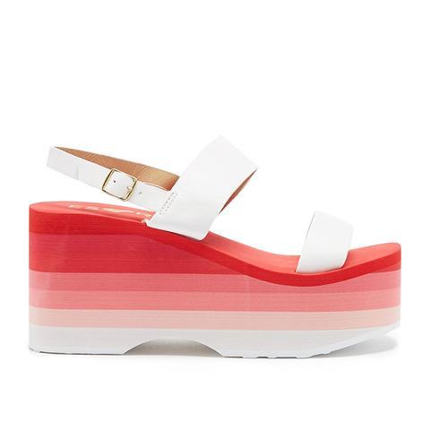 ESxRD Copa Pink & White Platform Sandals