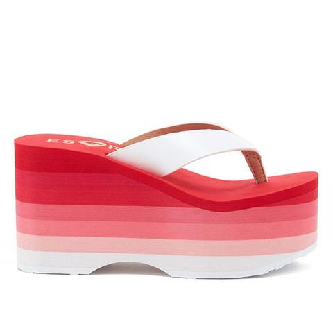 ESxRD Paradise Pink Platform Flip Flops