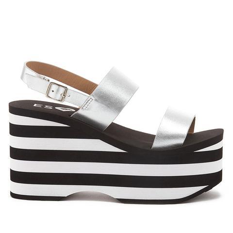 ESxRD Copa Black & White Platform Sandals