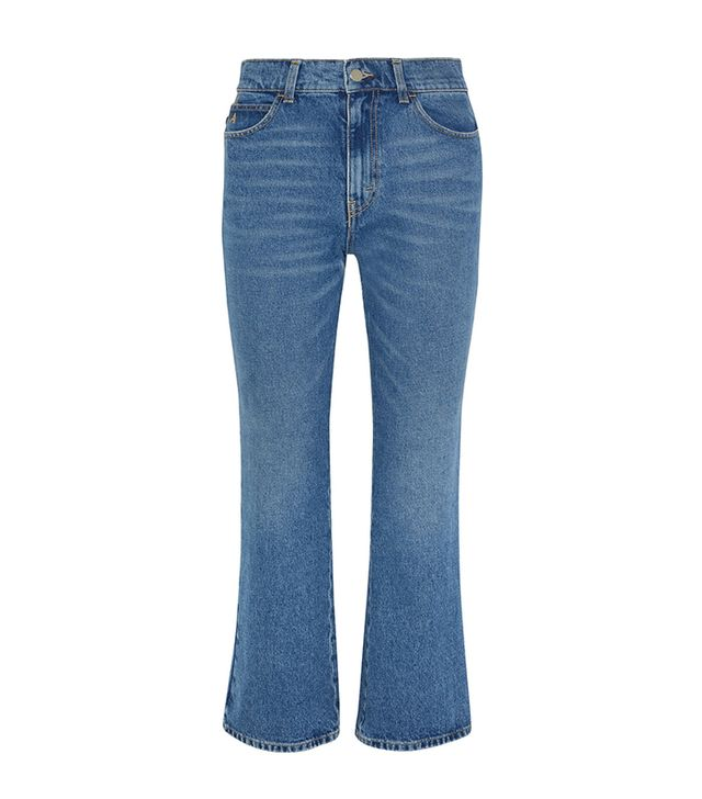 styling tricks - Attico Rosa Cropped High-rise Flared Jeans