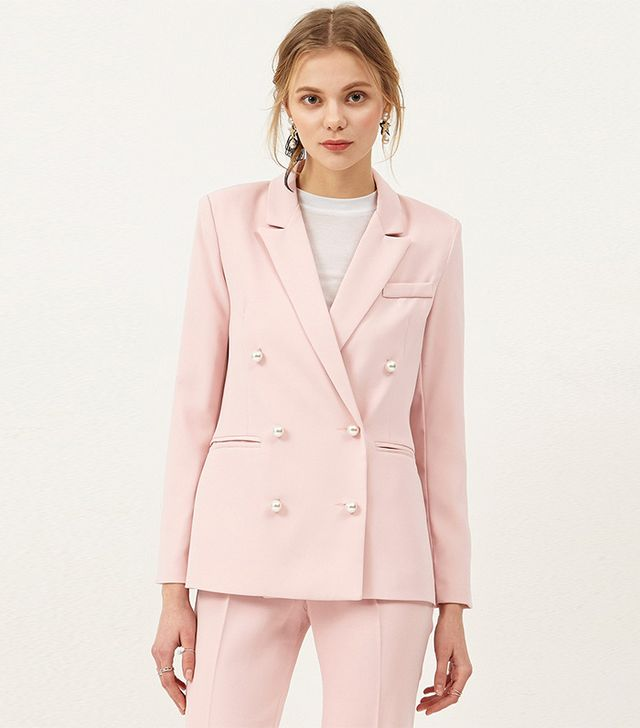 styling tricks - Storets Pink Pearl Jacket