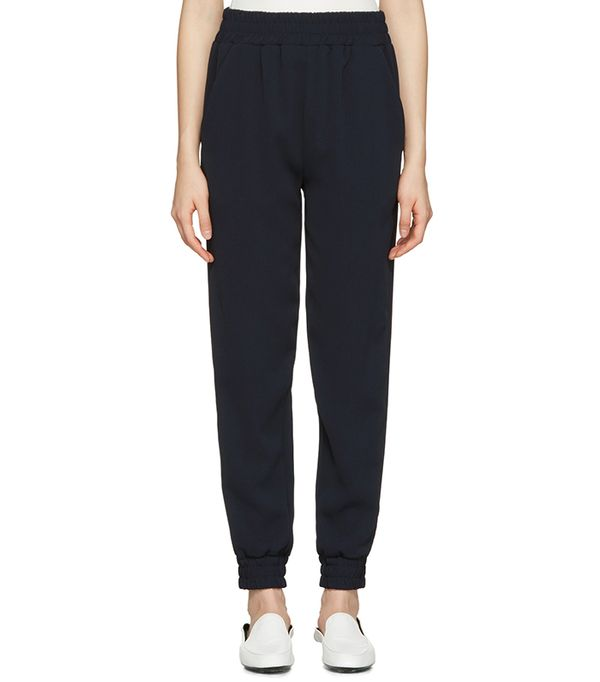 athleisure trend - Atea Oceanie Navy Jogger Lounge Pants