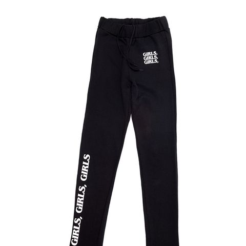 Girls, Girls, Girls Black/White Sweatpants