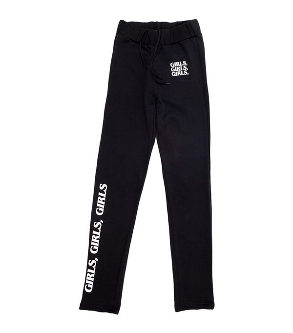 athleisure trend - Brashy Studios Girls, Girls,Girls Sweatpants Black/White Sweatpants