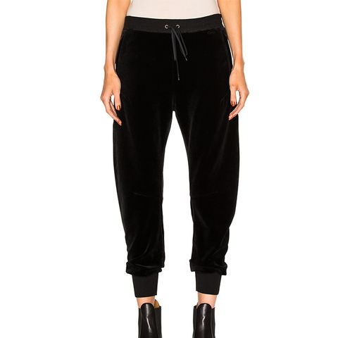 Velvet Cotton Jersey Sweatpants