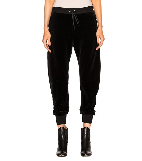 athleisure trend - Chloe Velvet Cotton Jersey Sweatpants