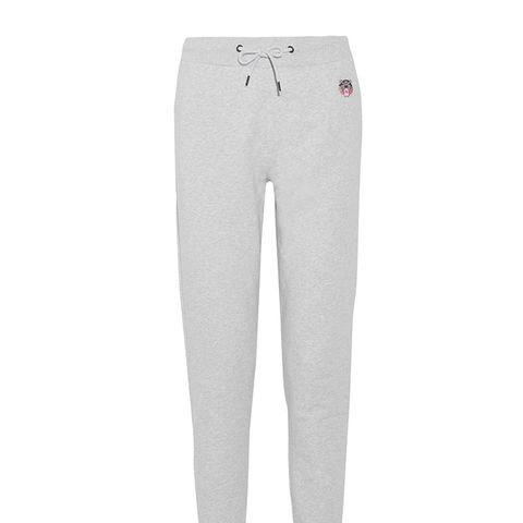 Appliquéd French Cotton-Terry Track Pants