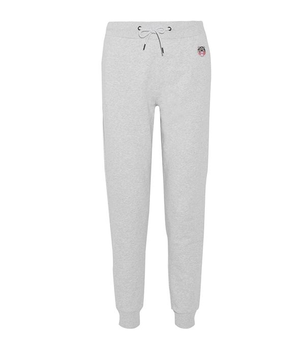 athleisure trend - Kenzo Appliquéd French Cotton-Terry Track Pants