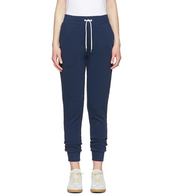 athleisure trend - Maison Kitsuné Blue Jogger Lounge Pants