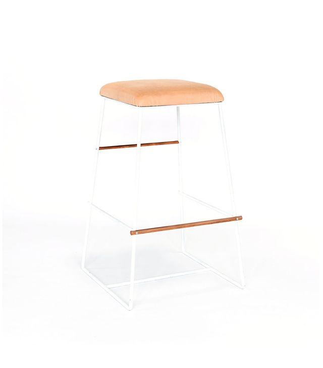 Consort Design Metal Bar Stool in White