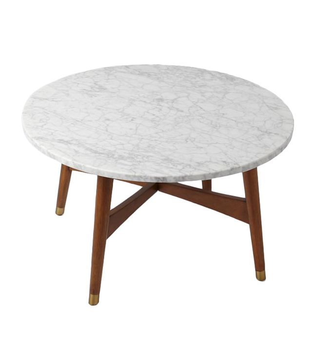 West Elm Marble Mid-Century Coffee Table