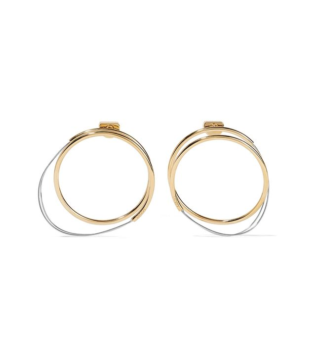dc fashion - Loewe Gold And SilverTone Hoop Earrings