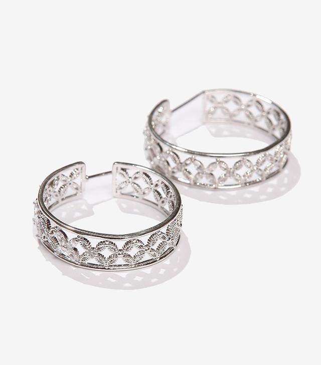 dc fashion - Adornmonde Crystal Hoop Earrings