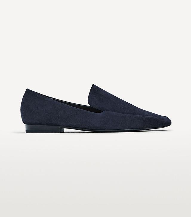 dc fashion - Zara Split Leather Loafers