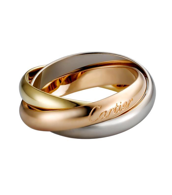 non-diamond engagement rings: Cartier Trinity De Cartier