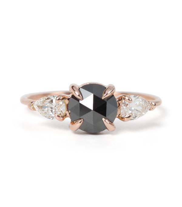 non diamond engagement rings - Catbird Wedding Mathilde The Swan