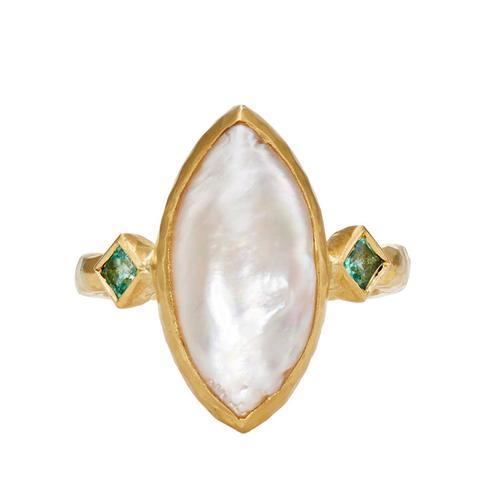 Pearl & Emerald Ring