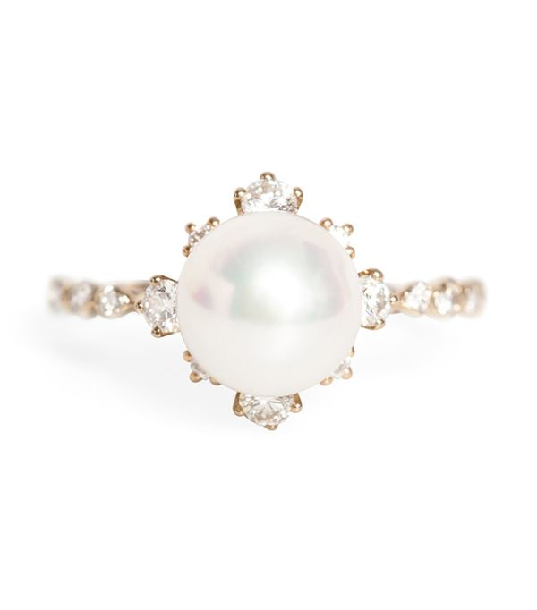 non diamond engagement rings - Kataoka Winter Pearl Ring