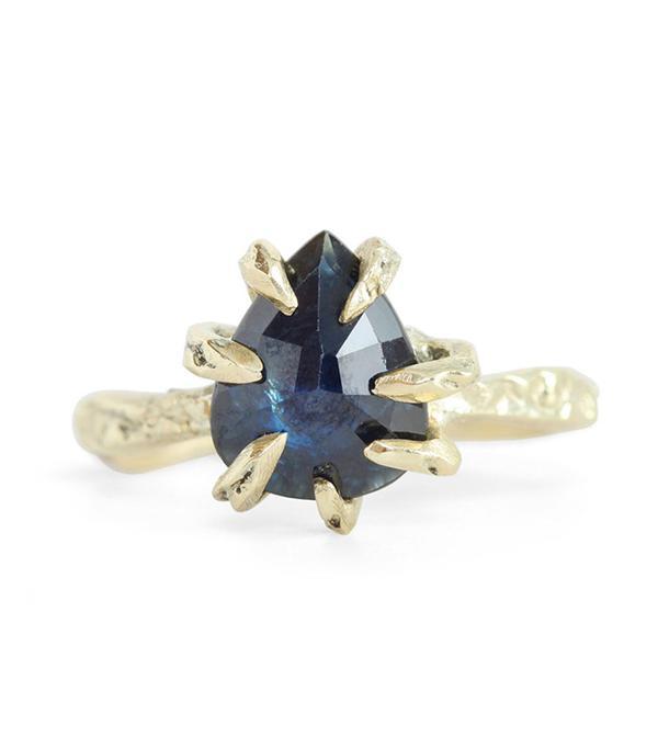 non diamond engagement rings - Lauren Wolf Blue Sapphire Ring