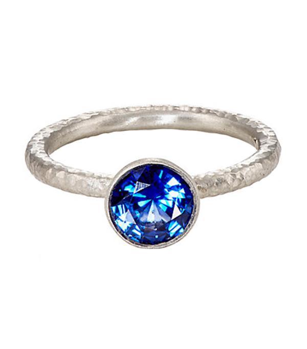 non diamond engagement rings - Malcolm Betts Blue Sapphire Ring