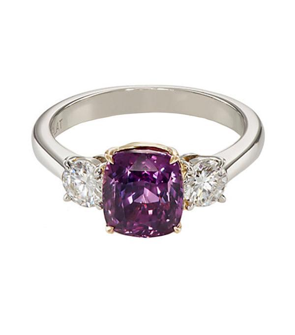 non diamond engagement rings - Mcteigue & Mcclelland Three Stone Ring