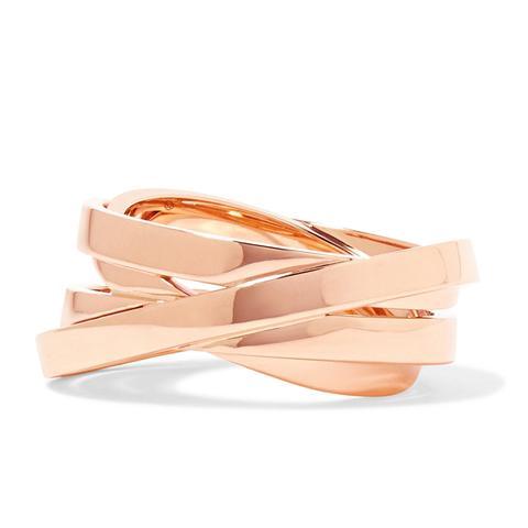 Technical Berbère 18-Karat Rose Gold Ring
