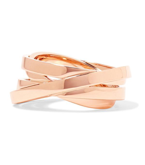 non diamond engagement rings - Reposi Technical Berbère 18-karat Rose Gold Ring