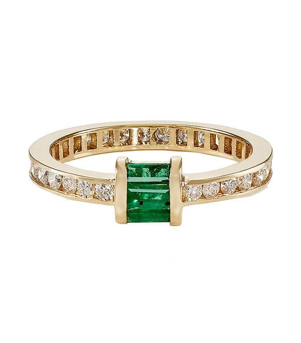 non diamond engagement rings - Retrouvai Barrel Band New Arrival