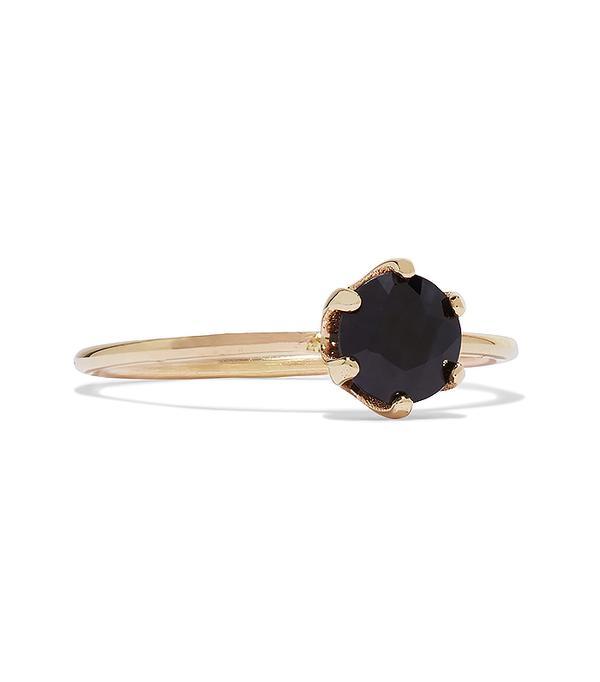 non diamond engagement rings - Sarah & Sebastian Pin 14-karat Gold Sapphire Ring