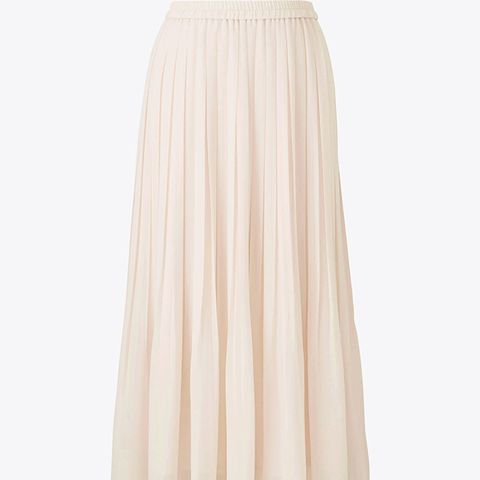 High Waist Chiffon Pleated Skirt