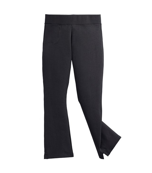 most flattering treggings- american giant the kick flare pant
