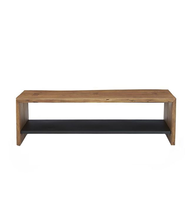 Crate and Barrel Yukon Bench with Shelf